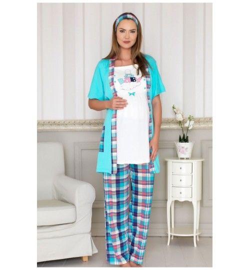 Lohusa Üçlü Pijama Takımı Baha En uygun fiyatlar.  Bizimambar.com