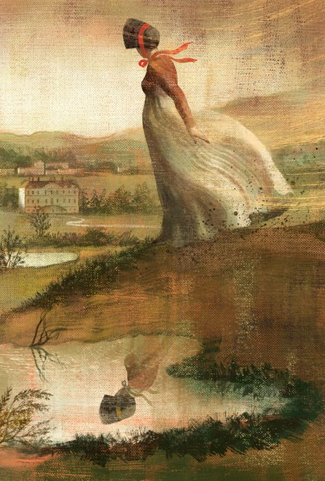Pride and Prejudice by Jane Austen - illustrated book by Anna & Elena Balbusso , via Behance