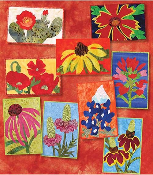 This beautiful assortment of wildflower postcard quilts will make the perfect gift for anyone in your life -- and you don't have to be from Texas to appreciate them!