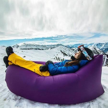 Надувной диван - гамак lamzac hangout фиолетовый  — 1850р. ----- Бонус на следующую покупку. Гарантия. Оплата при получении.