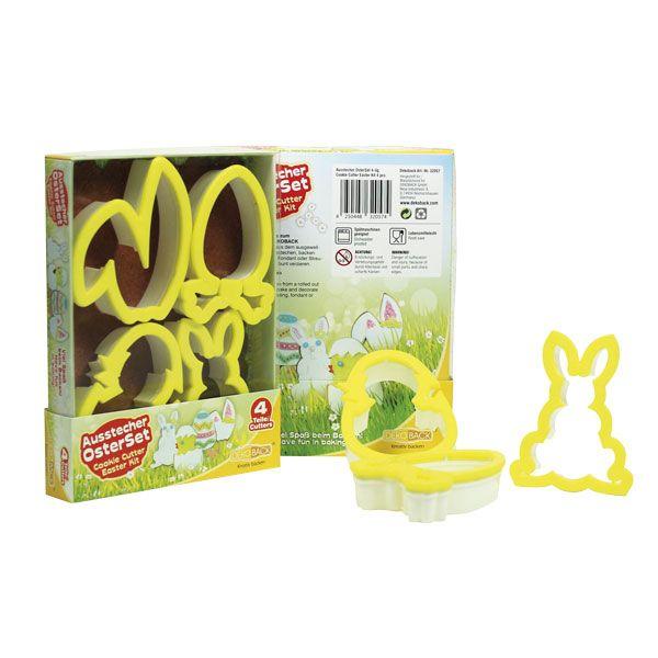 Wielkanocny zestaw foremek wykrawaczek do ciasta - wyborna zabawa, zachęci do szaleństw kuchennych, nie tylko do ciasteczek...:-)