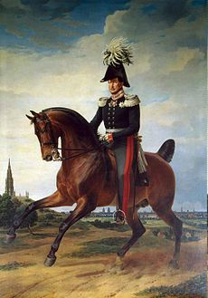 Frederick William III King of Prussia (Reign: 16 Nov 1797 - 7 June 1840) painting located in the  Military Gallery.