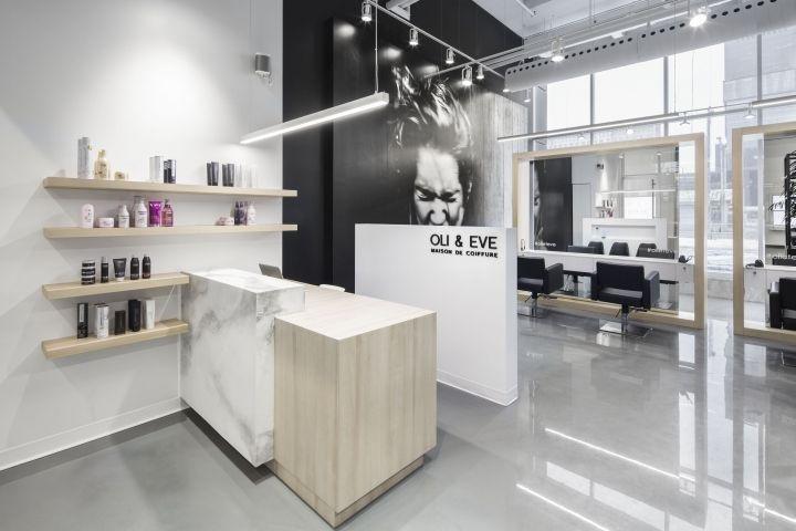 Oli Eve Maison De Coiffure By Espace 313 Longueuil Quebec Canada Retail Design Blog Retail Store Interior Retail Interior Design Retail Interior