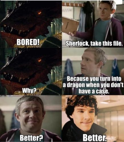 Sherlock + The Hobbit + Snickers commercial = <3