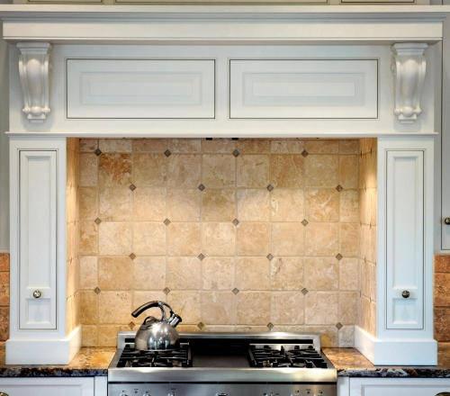 Jerusalem Gold Limestone Tile Backsplash