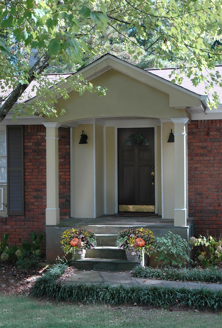17 best images about gable roof porch portico ideas on for Door portico
