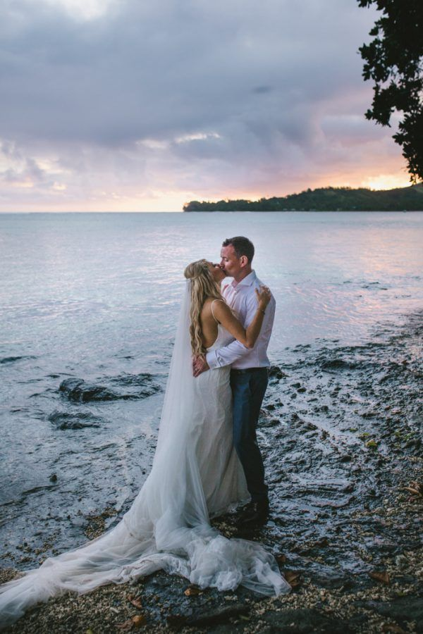 Sunset Destination Wedding on Fiji's Coral Coast