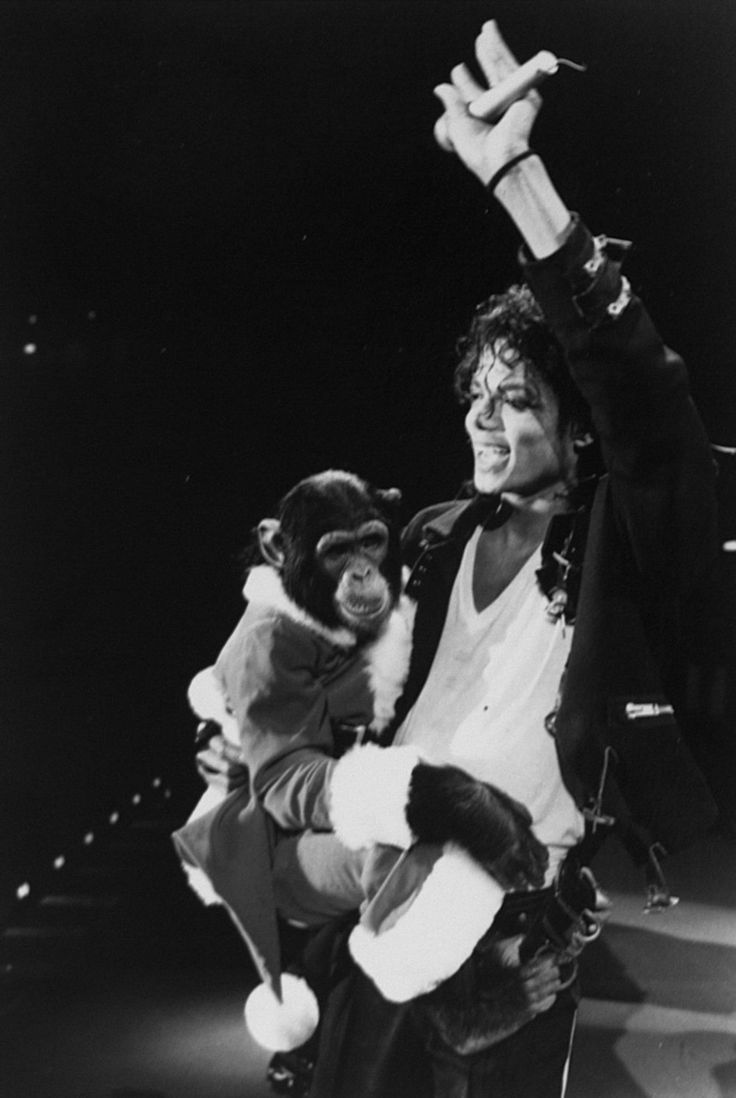 Michael and Bubbles. Such a sweet, beautiful friendship they had.