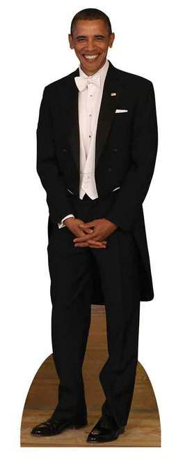 #44President #BarackObama wearing a Tuxedo Lifesize Cardboard Cutout. This cutout is great for Parties and Themed Events  #ObamaLegacy #ObamaHistory #ObamaLibrary #ObamaFoundation Obama.Org
