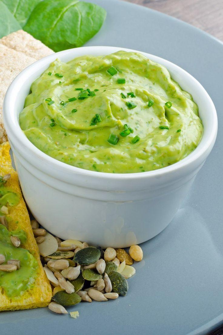 Creamy Avocado Ranch Dip Appetizer Recipe With Sour Cream Neufchatel Cheese Ranch Salad Dressin Sour Cream Recipes Ranch Salad Dressing Mix Appetizer Recipes