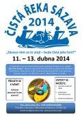 Tradiční jarní úklid řeky Sázavy se uskuteční od 11. do 13. dubna 2014