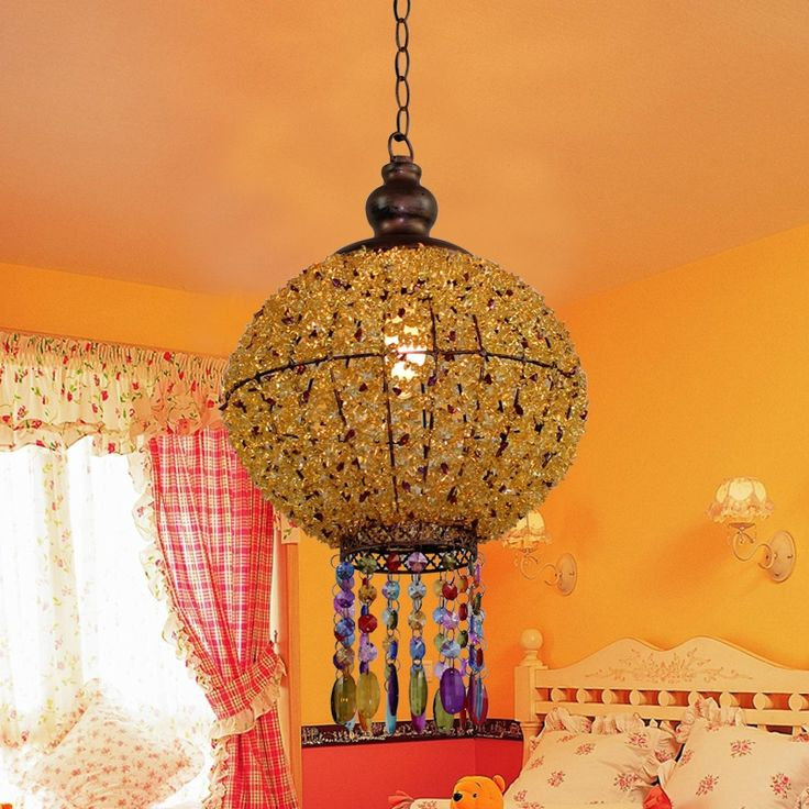146.30$  Watch now - http://alift5.worldwells.pw/go.php?t=32786637789 - Southeast Asia Hall Chandelier Mediterranean Chandelier Corridor Balcony Yellow Lanterns Lamp Classical Chinese Hanging Light