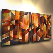 Original Art Abstract Painting Large Modern Contemporary Michael Lang Signed