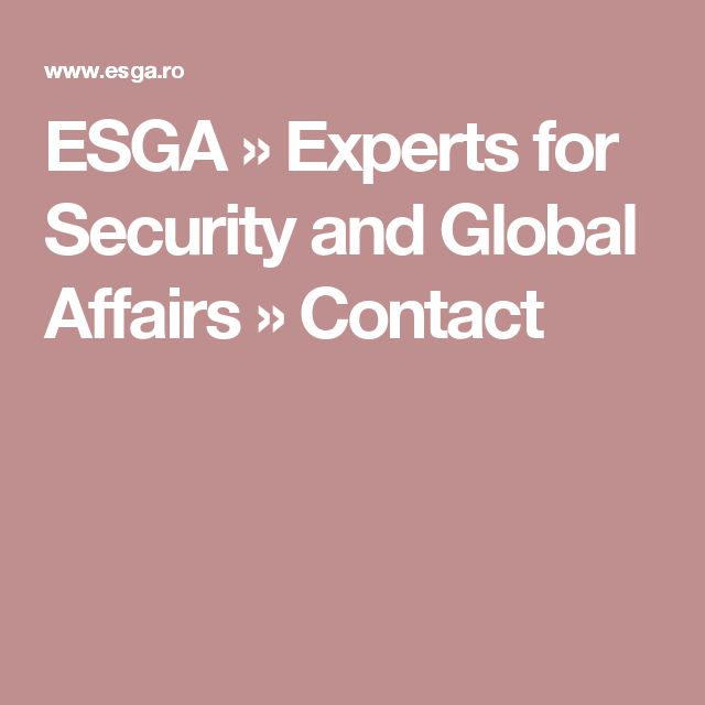 ESGA » Experts for Security and Global Affairs » Contact