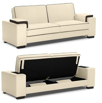 This futon is a beautiful sofa, comfortable bed, AND it has storage space!!! Talk about an all in one sofa!