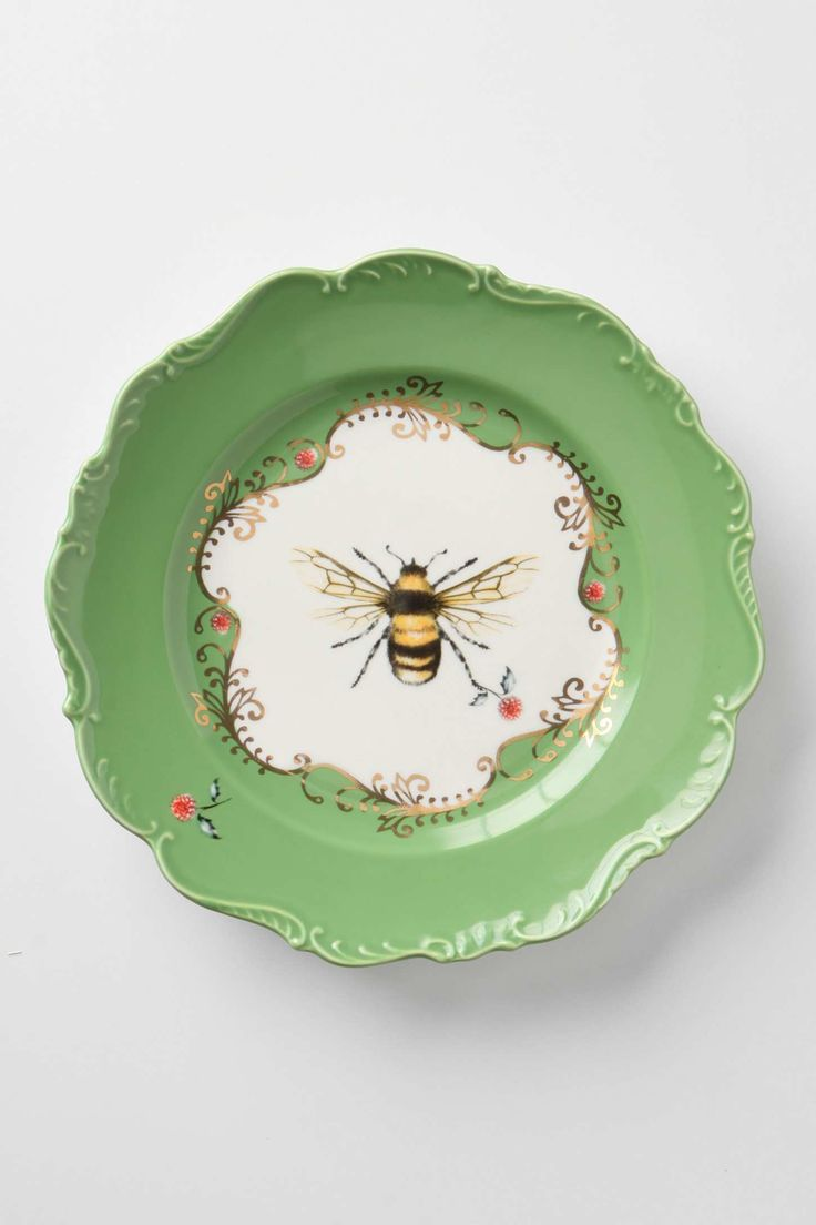 Natural World Dessert Plate Bee just ordered from Anthropologie.Love these plates! & 52 best Bee-lieve! images on Pinterest | Bees Honey and Beekeeping