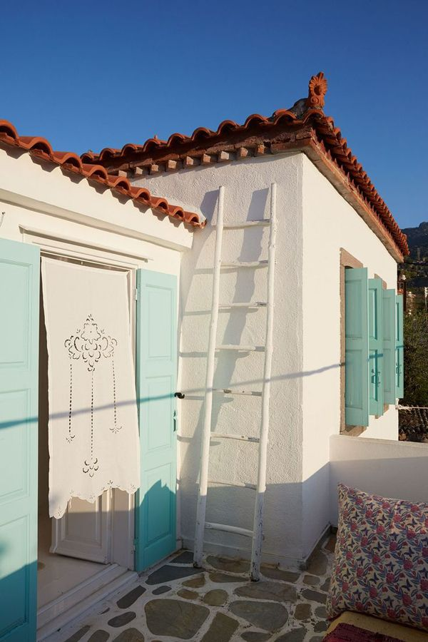 Lovely home and guest house on the Greek island of Lesvos. Photography by P. Massey | House and Garden.