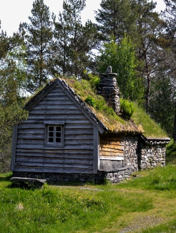 Cabin With Sod Roof