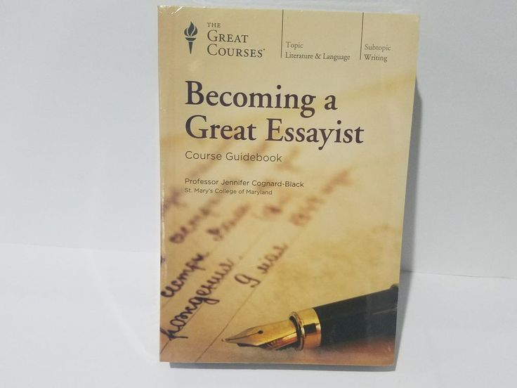 Great Courses Becoming A Great Essayist Vol 1/2 24 Lectures 12 CDs & Course Book