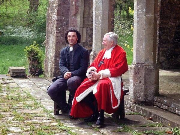 Robin Ellis as Rev. Dr. Halse!!!! (sitting next to Aiden Turner as Ross).