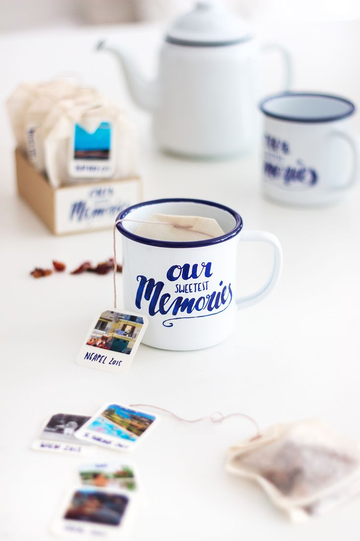 DIY cup and teabag as a photo gift