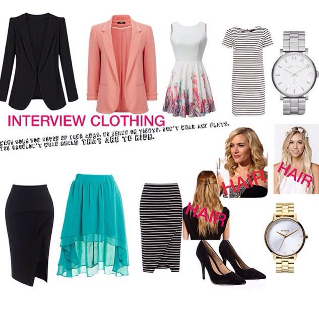 Different articles of clothing that would be alright to wear!