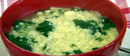 Pastina soup. So easy and you can add shredded chicken.