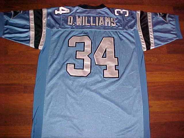 Reebok NFL NFC South Carolina Panthers DeAngelo Williams #34 Blue Jersey 56 #Reebok #CarolinaPanthers
