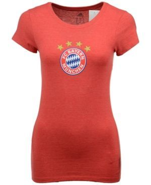 adidas Women's Bayern Munich International Soccer Club Team Crest T-Shirt - Red XL