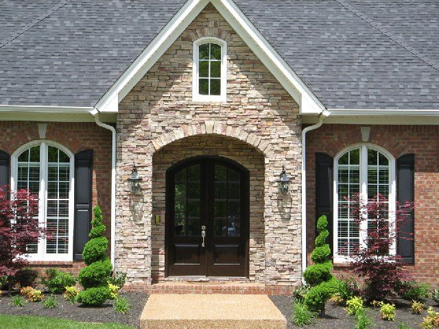 19 best centurion stack stone images on pinterest lanai for Mixing brick and stone