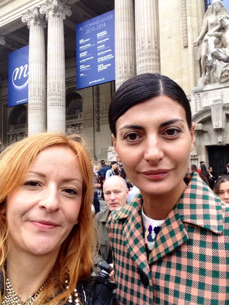 With Giovanna Battaglia