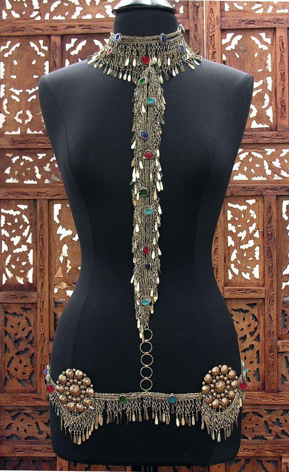 Jeweled Kuchi Fringe Body Chain Scarlet's by ScarletsGypsyLounge, $245.00