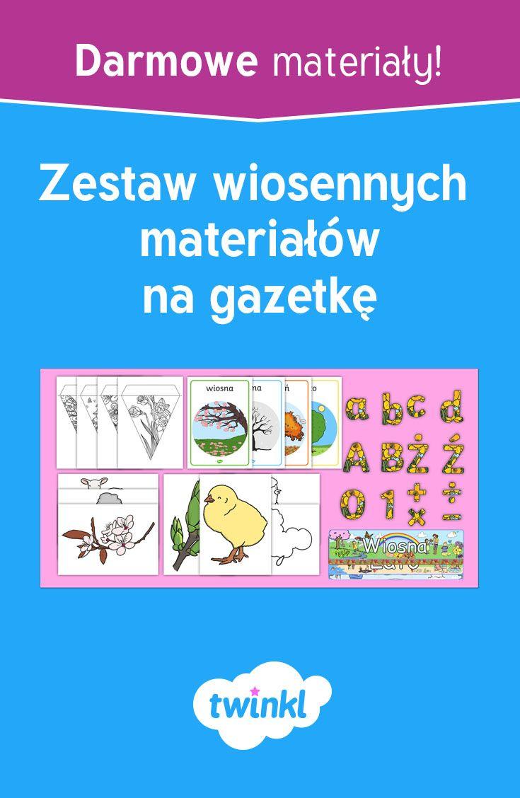 Wiosenne Materialy Na Gazetke Curriculum