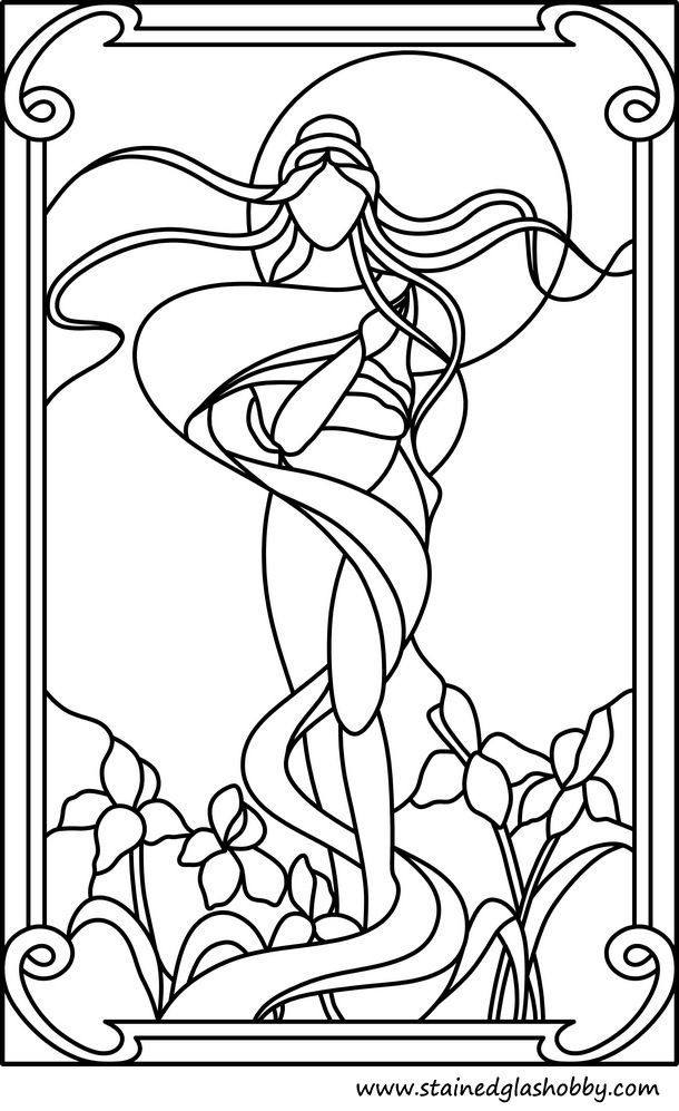 venus stained glass design:
