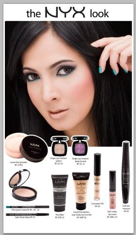 Crea tu look con NYX cosmetics.