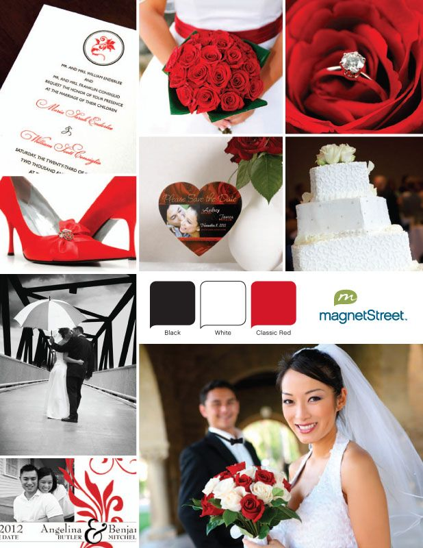 Black and Red Wedding!: Red Black Wedding, Red Black Theme Wedding, Redblack, Idea, Color Palettes, Black Color, Rings Pictures, Black And Red Wedding, Black White Red