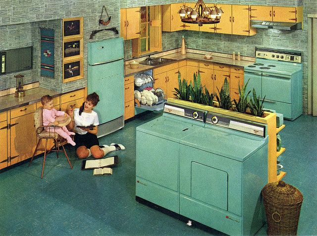 hotpoint appliance 1960  put your washer and dryer in the middle of the kitchen  6565 utvalda l   ve the 50 u0027s id  er av cmhowson   vintagek  k mitten      rh   pinterest se