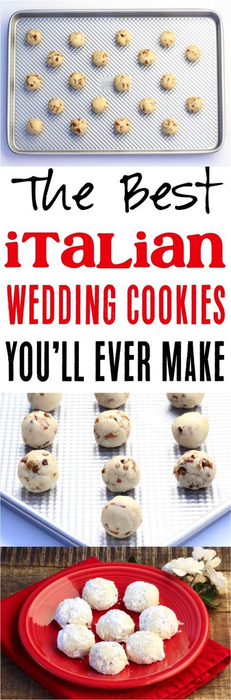 Italian Wedding Cookies Recipe The Best Easy Cookie Recipes With Few Ingredients For Any Occasion