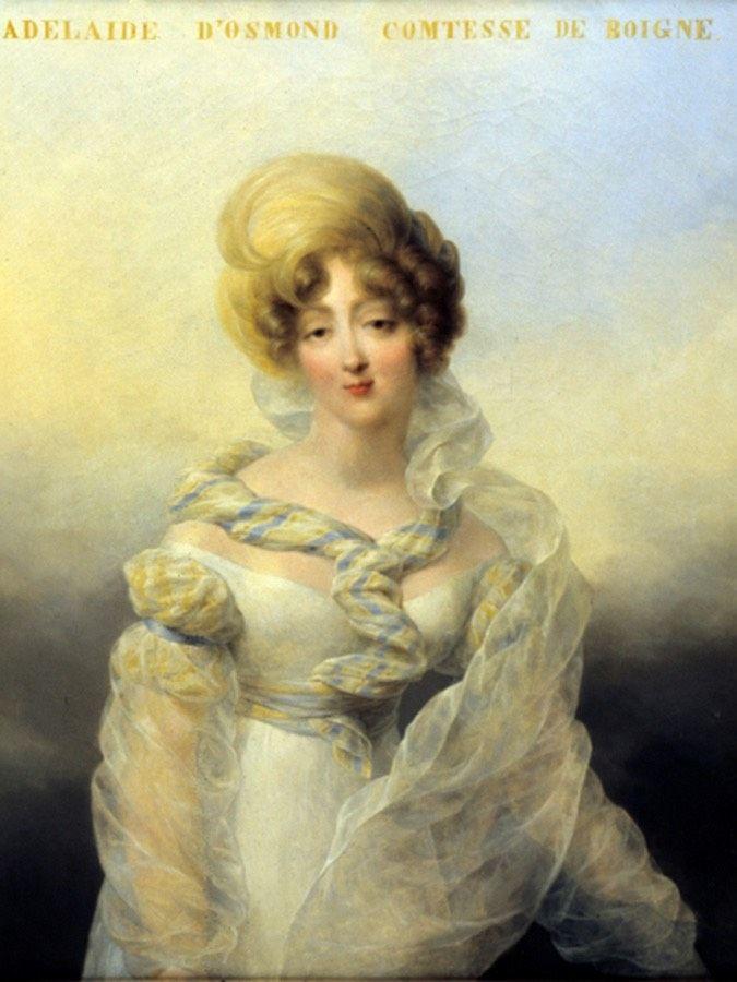 1810 Adélaide d'Osmond, comtesse de Boigne by Jean-Baptiste Isabey (Musée des beaux-arts, Chambéry, Rhône-Alpes, France) From ateliertouchard.fr/index.php/aubry-le-panthou