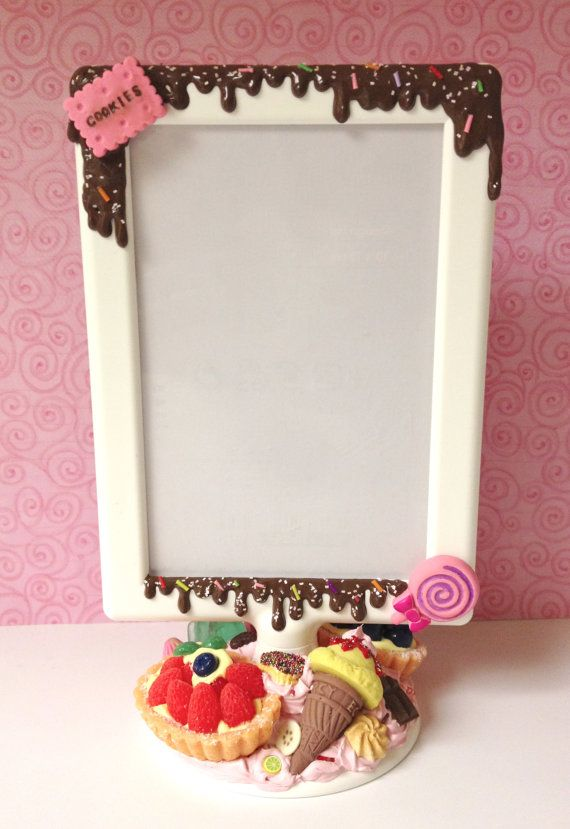 This frame makes me hungry ;)  Sweet Deco Photo Frame by claysweetdeco on Etsy, $32.00