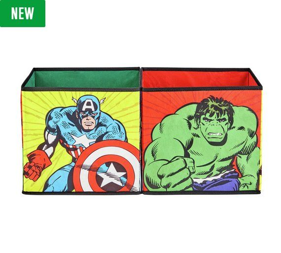 Buy Marvel New Avengers Canvas Box at Argos.co.uk - Your Online Shop for Children's toy boxes and storage, Children's furniture, Home and garden.