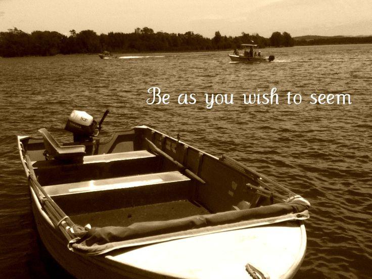 "Quotes ""Be as you wish to seem"" - Fishing boat, Lake Tuross, NSW, Australia"