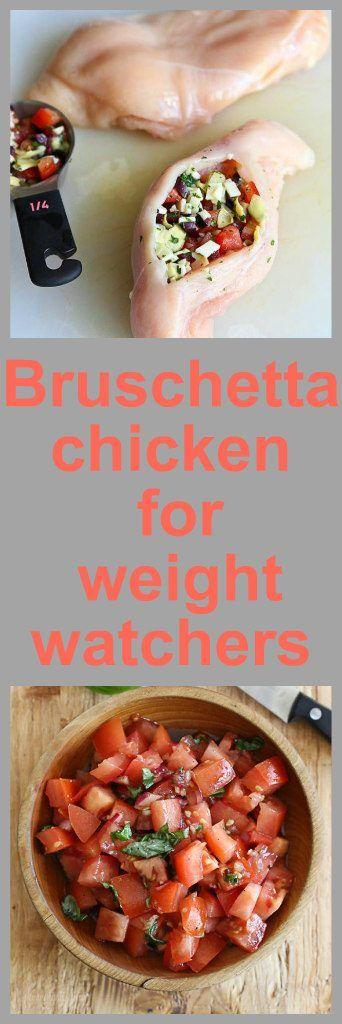 Bruschetta Chicken for Weight Watchers