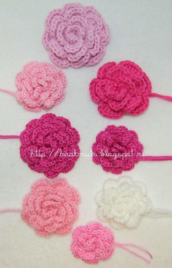 Haakmuts: [Free] Roosjes maken op een makkelijke manier http://haakmuts.blogspot.nl/p/blog-page.html