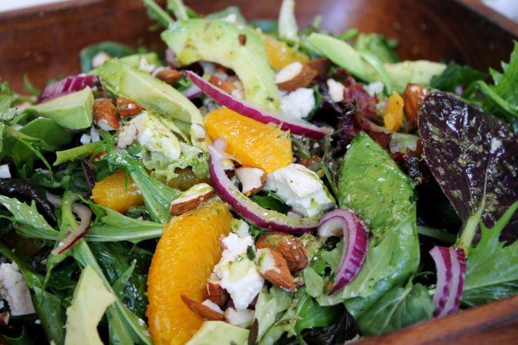 Orange, almond and feta salad recipe