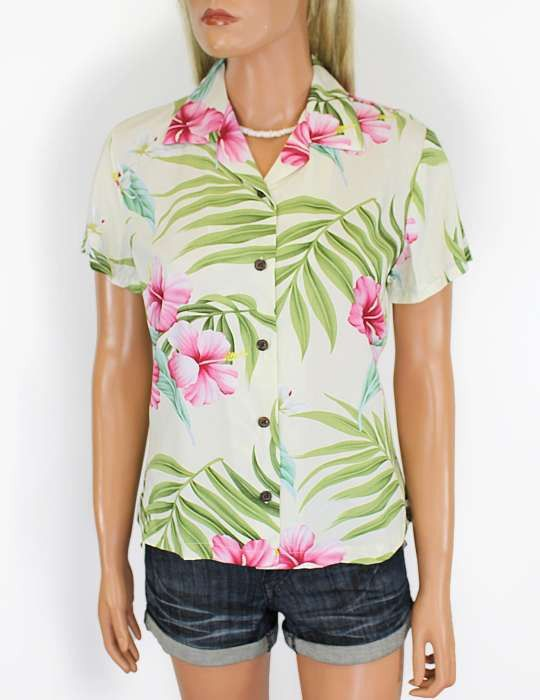 Rayon Hawaiian Shirt for Women Nalani Design