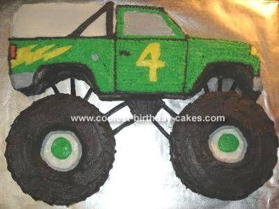 Monster Truck Cake Pan Birthday Party Ideas Pinterest