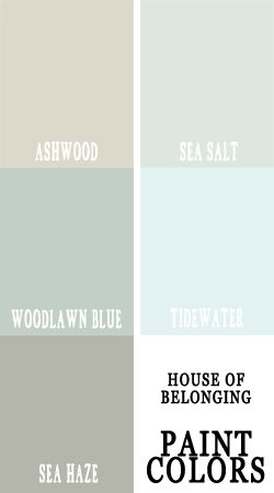 coordinating paint colors , these would look wonderful in a home going from room to room