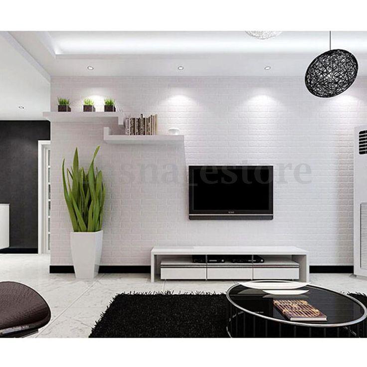 17 mejores ideas sobre ladrillos blancos en pinterest - Papel pintado salon ...