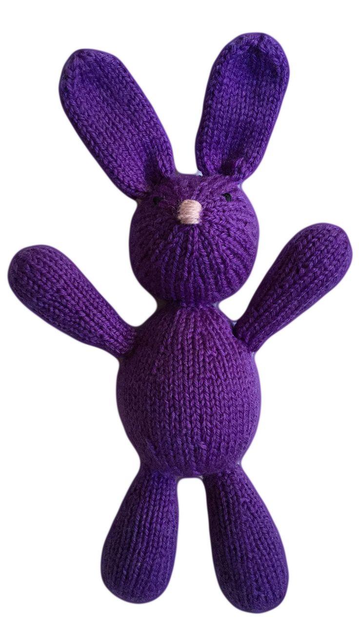 VirkotieNEON Purple 100% Wool Bunny HANDMADE IN AUSTRALIA exclusively for VirkotieBRAND www.virkotie.com